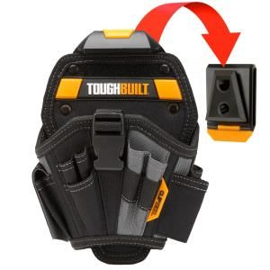 Toughbuilt Large Drill Holster Black Tb Ct 20 L The Home Depot In 2020 Tool Belts Work Belt Holster