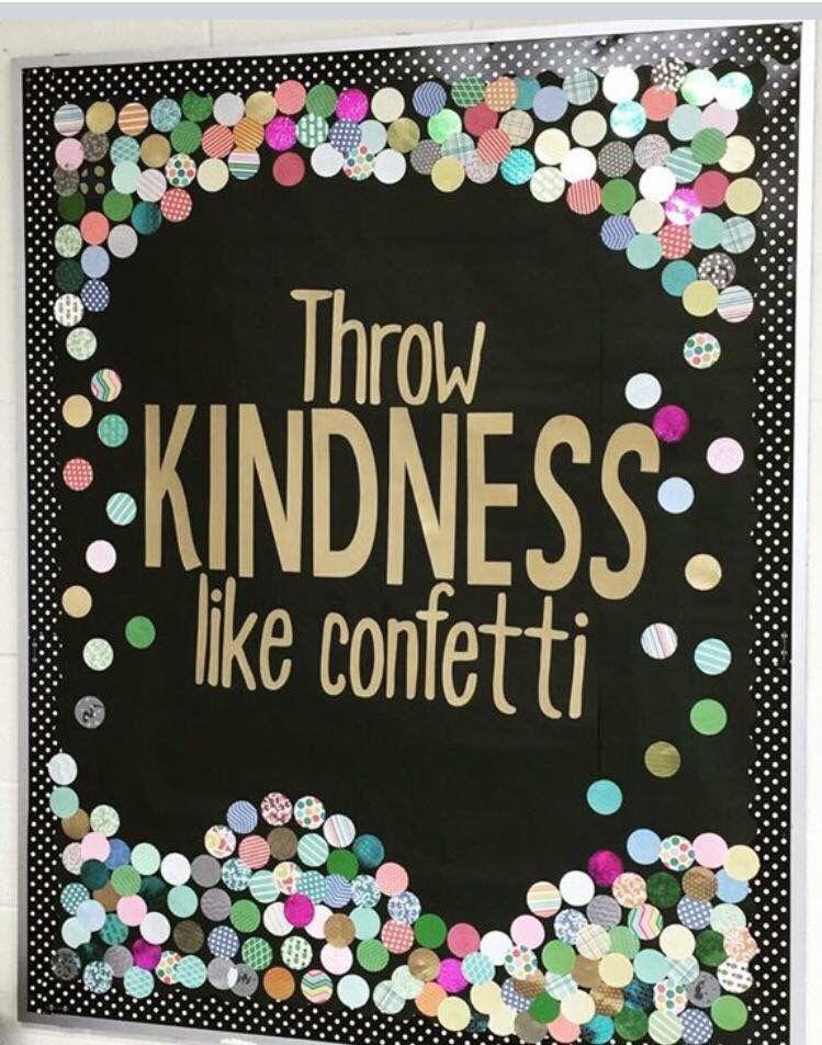 Kindness week bulletin board school counselor stuff