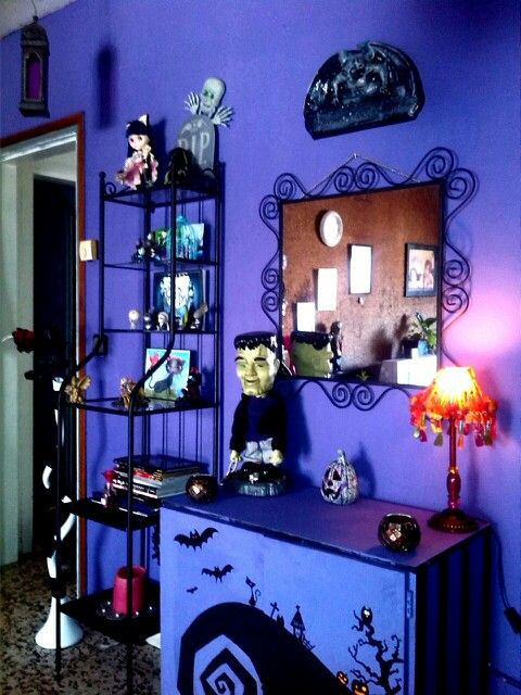 Gothic Paint Colors tim burton decor i would do the walls a different color but i like
