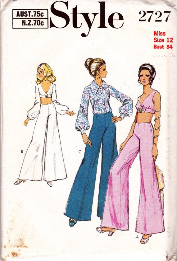 de3b267c3d 70s Vintage Sewing Pattern Style 2727 Bra by allthepreciousthings, $16.00