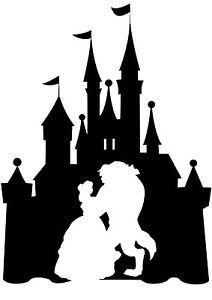 image result for beauty and the beast silhouette wedding