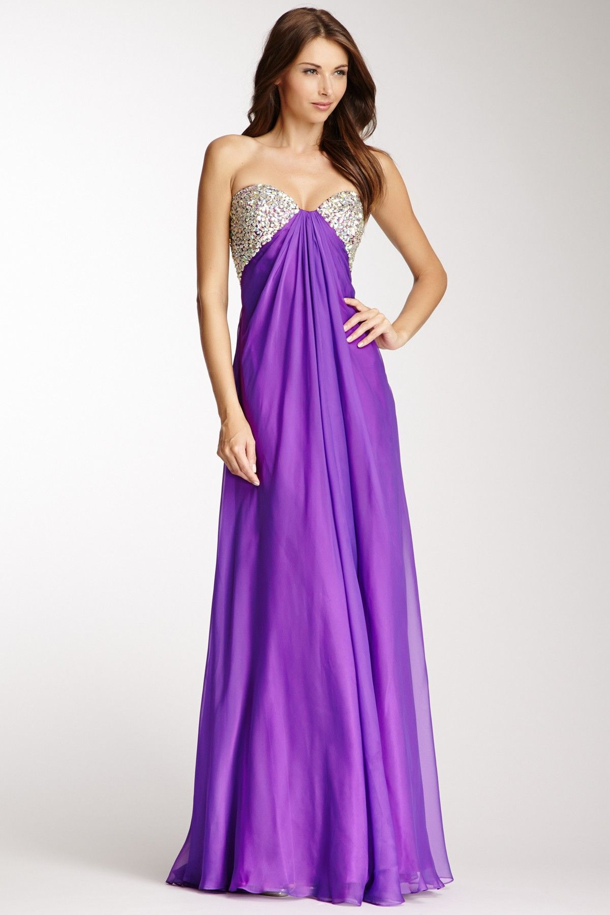 strapless gown <3\