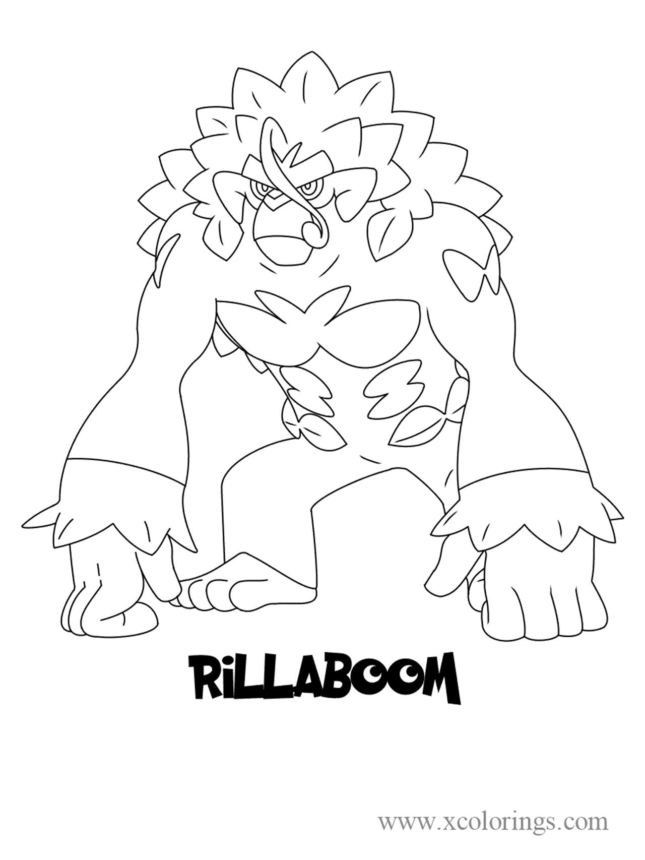 Pokemon Sword And Shield Rillaboom Coloring Pages Pokemon Coloring Pages Pokemon Coloring Sheets Easy Pokemon Drawings