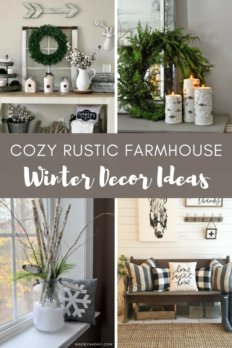 Cozy rustic farmhouse winter decor ideas  hundred affections also decoration and rh pinterest