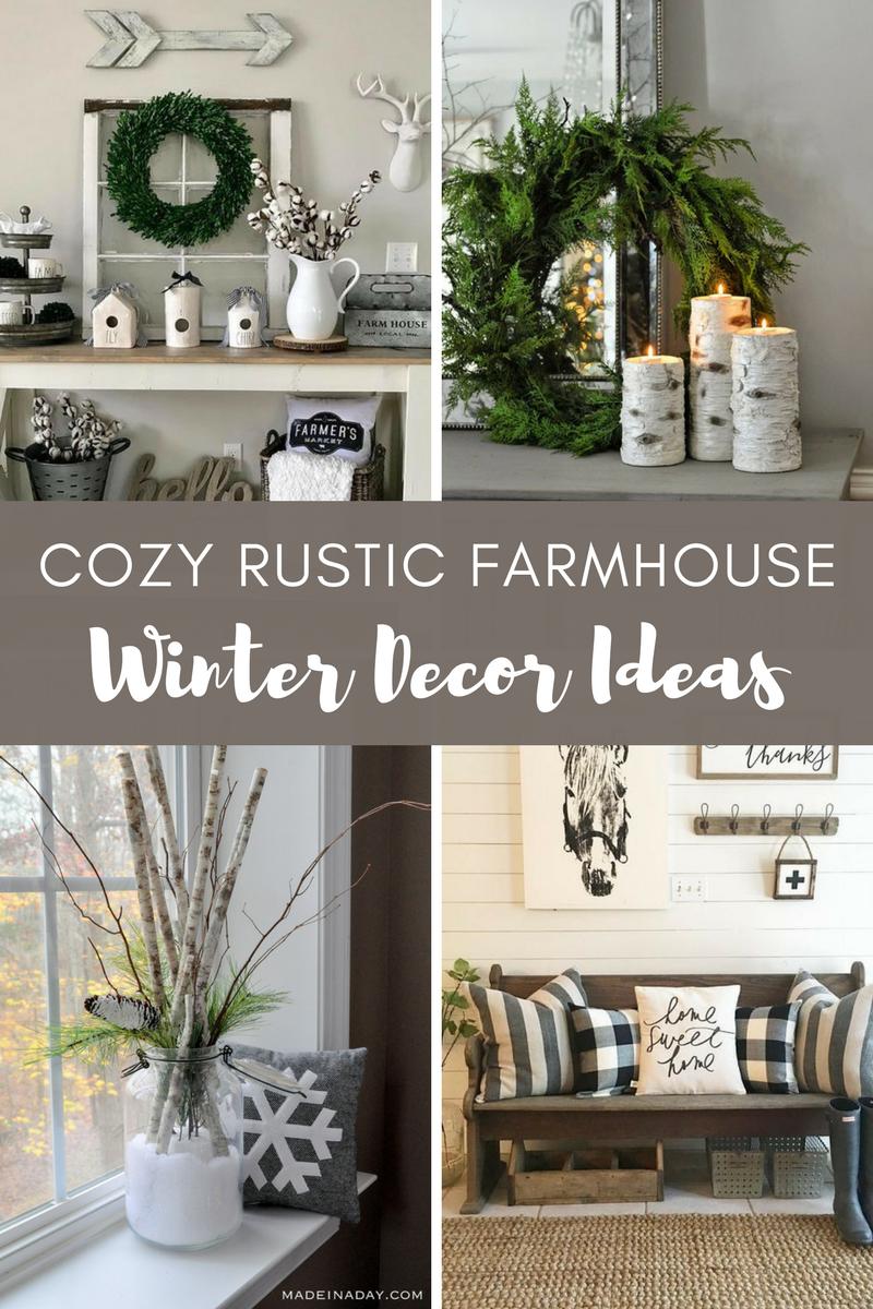 Cozy Rustic Farmhouse Winter Decor Ideas A Hundred