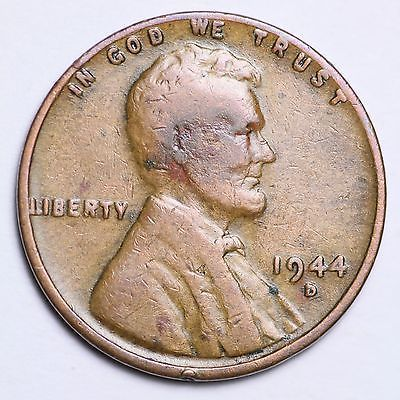 1944 D Lincoln Wheat Cent Penny Coin  *FINE OR BETTER*  **FREE SHIPPING**