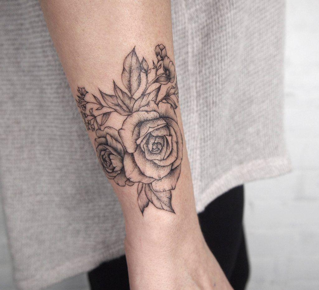 Corsage flowers - Tattoo People Toronto - Jess Chen