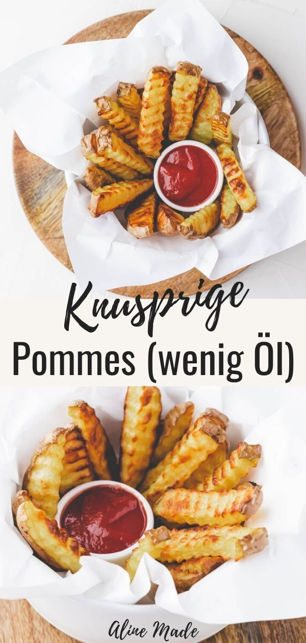 Selbstgemachte Backofen Pommes (extra knusprig) | Aline Made