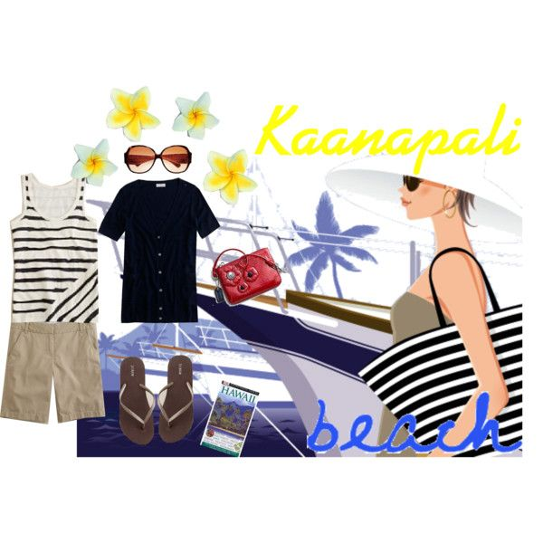 """Kaanapali Beach"" by handbagaficionado on Polyvore"