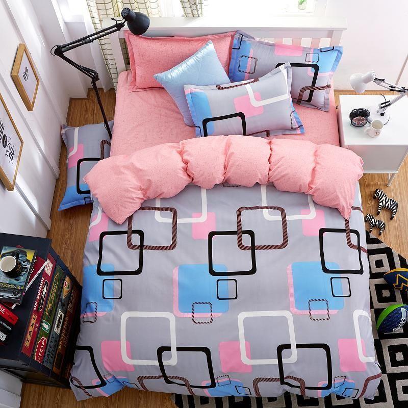 bedding set 5 size green bird bedding set duvet cover set Korean bed sheet +duvet cover +pillowcase pink bed cover bed linen set 1