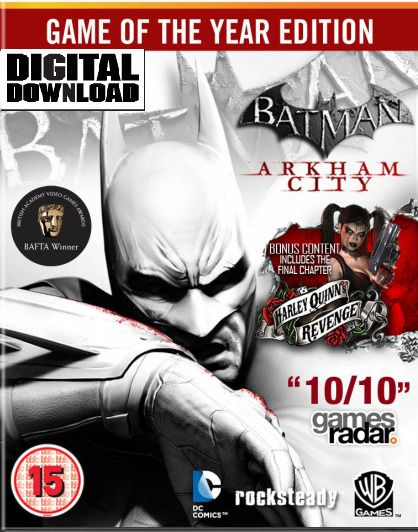 $3 09 - Batman Arkham City Goty Game Of The Year Edition Steam Pc