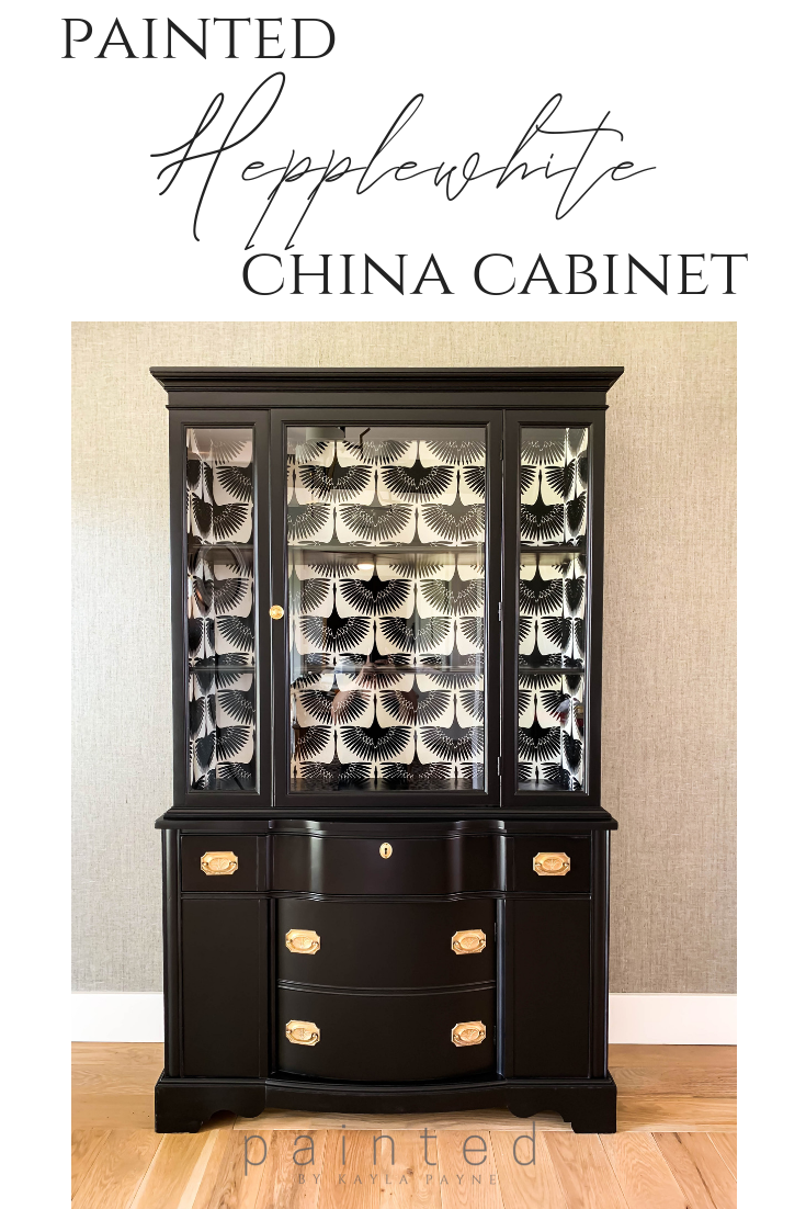 Black Painted China Cabinet is part of cabinet Makeover Before And After - Striking black painted china cabinet before and after! Transform those old, sad pieces of furniture into a work of art that fits your style  This is how
