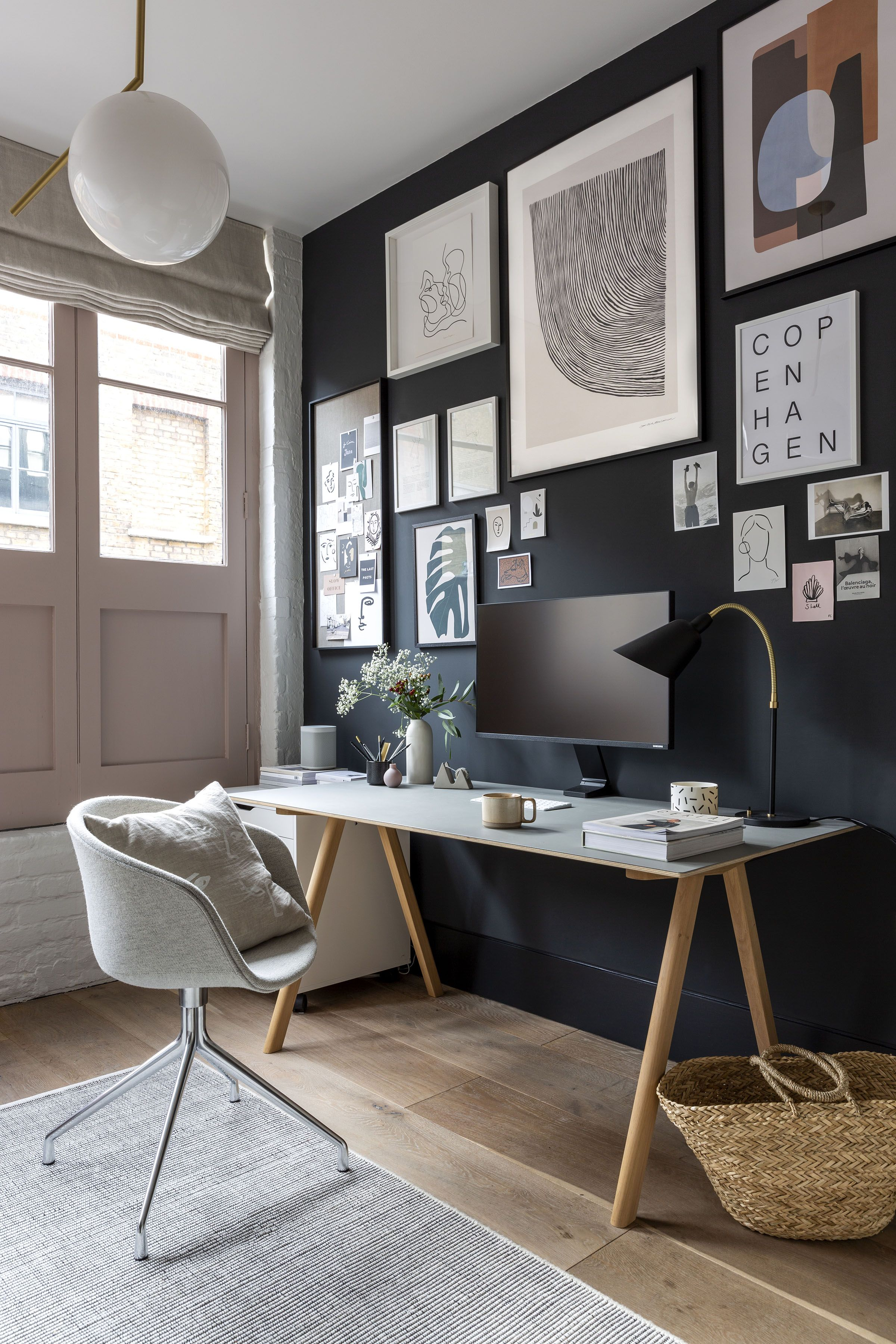 Photo of A cool, minimalist home office in a Shoreditch loft apartment