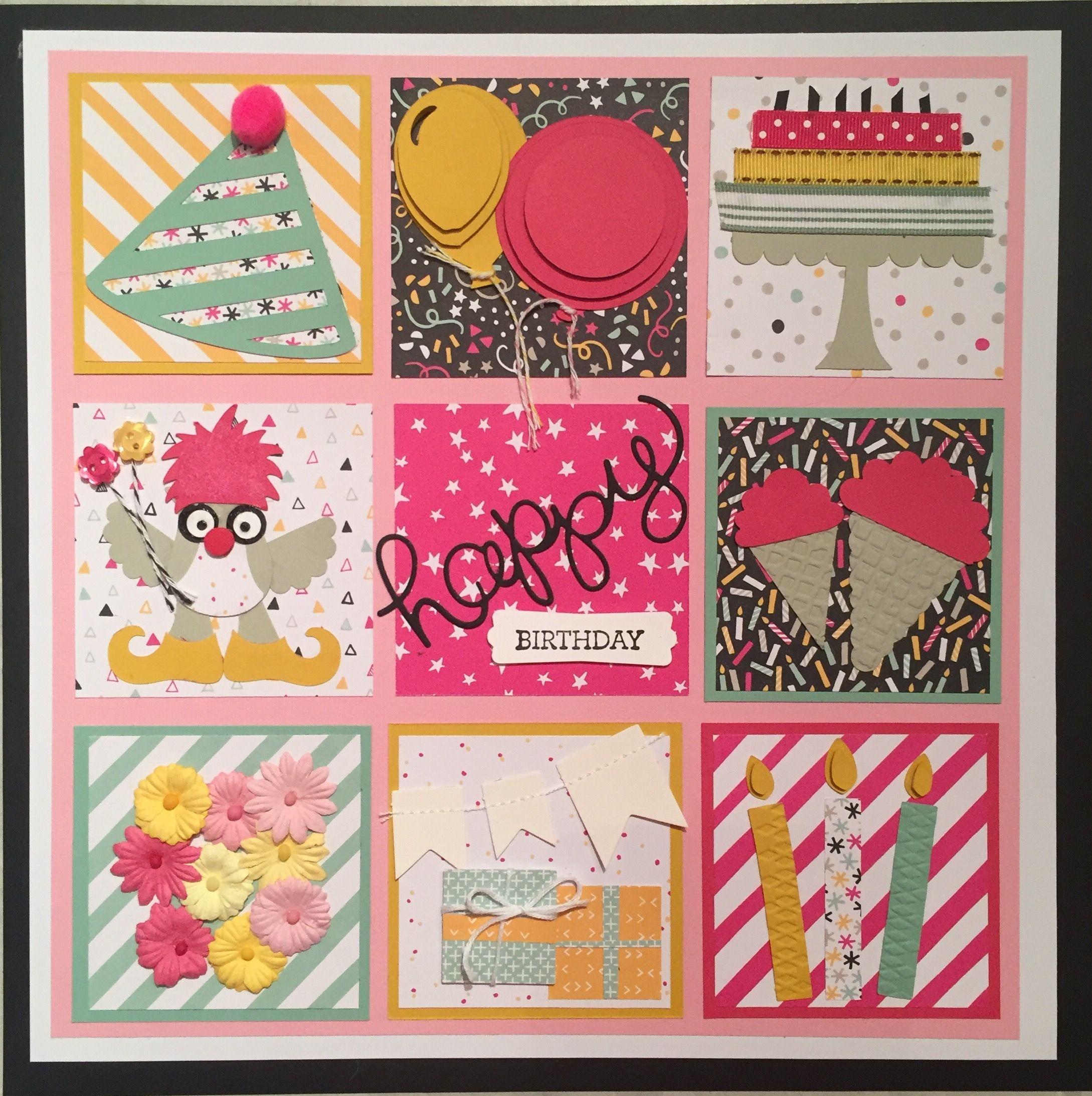happy birthday stampinup  paper crafts card art paper