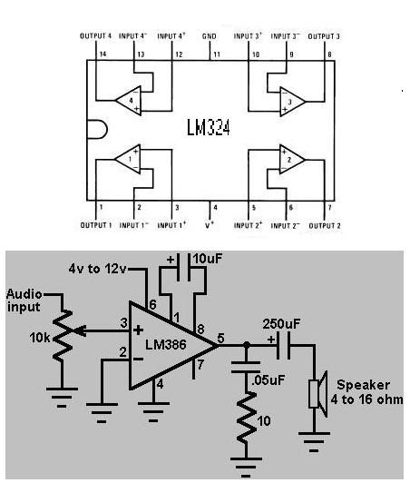 Install Lm324 Audio Amplifier Circuit Bridged To Two ...