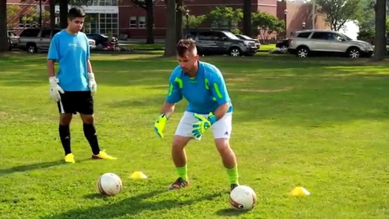 Goalkeeper footwork and catching drills soccer goalie