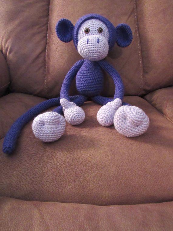 crochet amigurumi singe fait sur commande produit fini est environ 21 1 2 pouces de hauteur de. Black Bedroom Furniture Sets. Home Design Ideas
