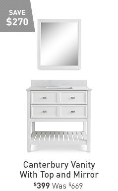 Save 270 Canterbury Vanity With Top And Mirror 399 Was 669