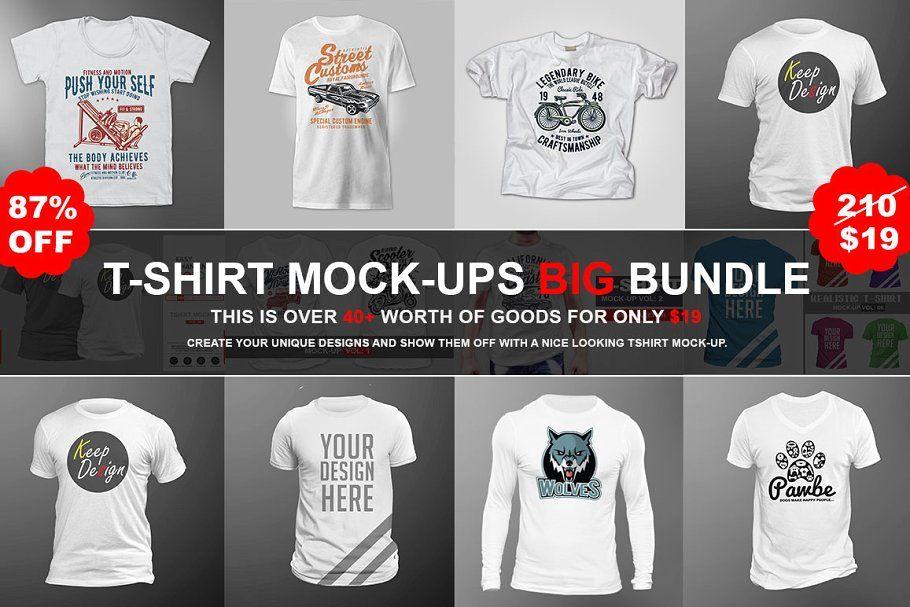 Download T Shirt Mock Ups Big Bundles Tshirt Mockup Clothing Mockup Shirt Mockup