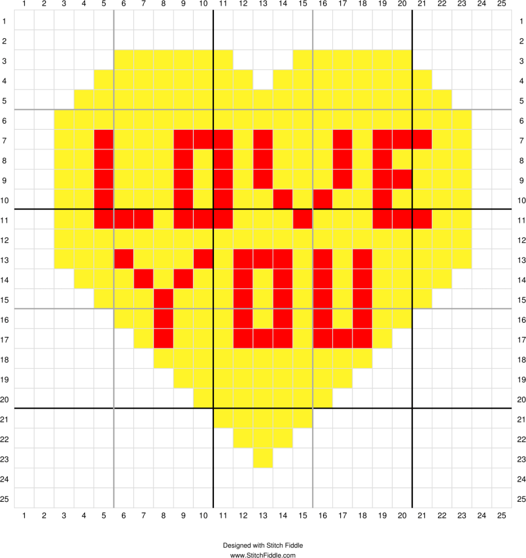 Conversation Heart Corner To Corner Graph 2 In
