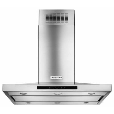Kitchenaid 42 In Island Canopy Convertible Range Hood In Stainless Steel Kvib602dss The Home Depot Island Range Hood Stainless Steel Island Stainless Range Hood