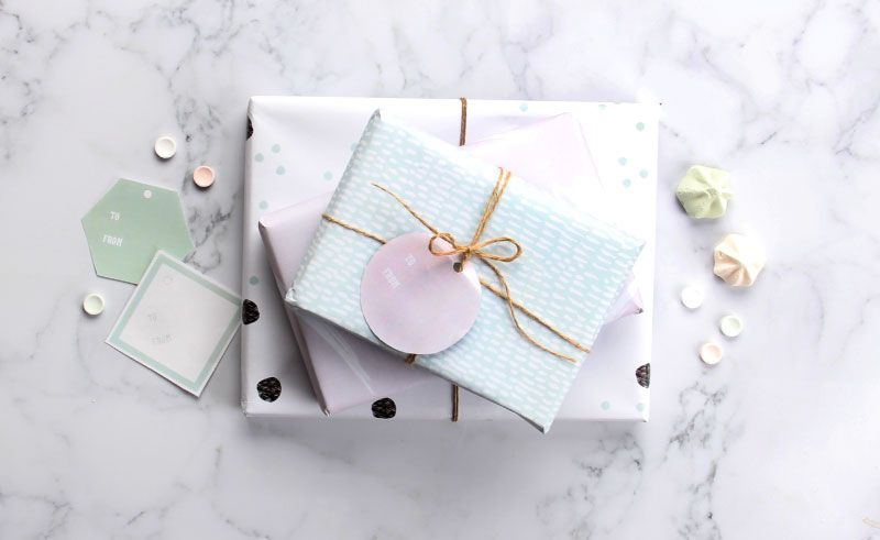Free Oh So Pretty Printable Wrapping Paper ~ Tinyme