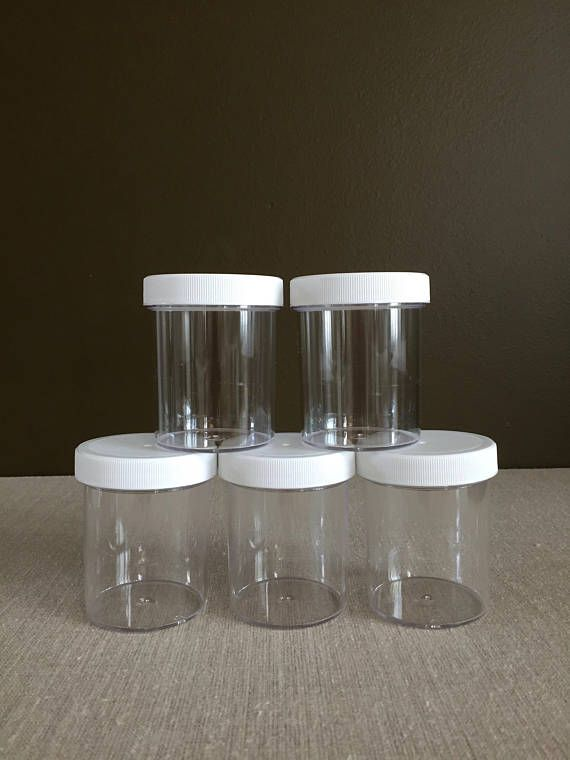 10pcs 4oz Bpa Free Slime Jars Clear Plastic Containers Products