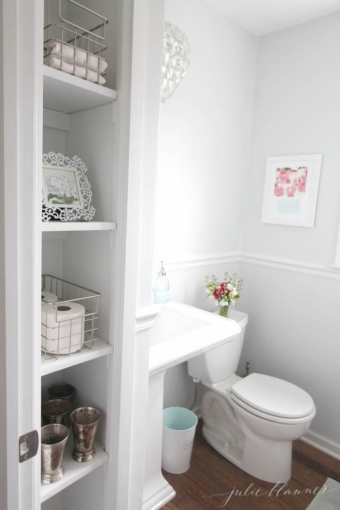 See The Before And After Of This Diy Half Bath On A Budget Filled