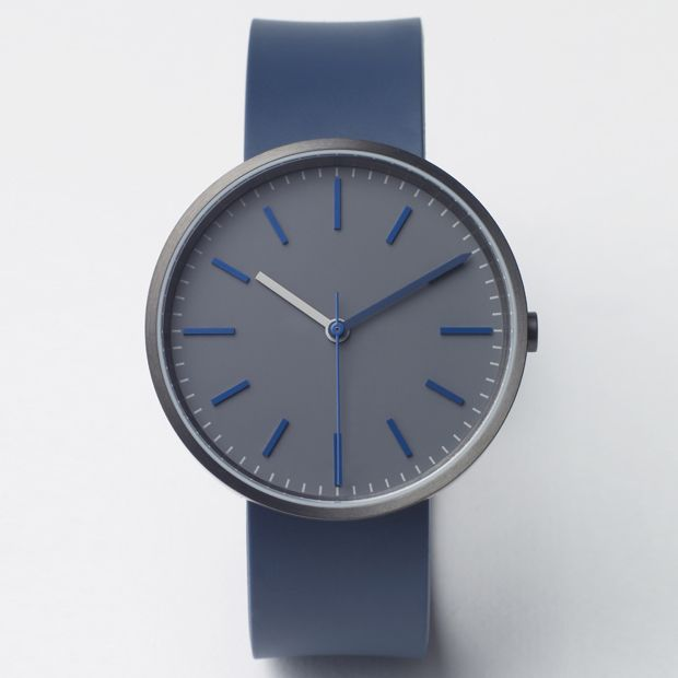 104 Series watch by Uniform Wares in blue/grey. Available at Dezeen Watch Store: www.dezeenwatchstore.com #watches