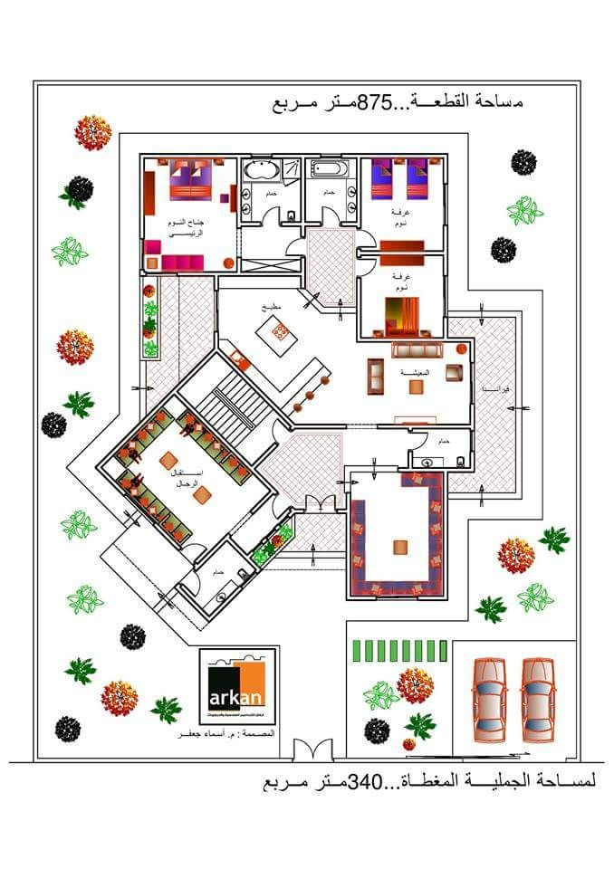 Arabic Libyan Home Plan Home Design Floor Plans Home Design Plans House Design Photos