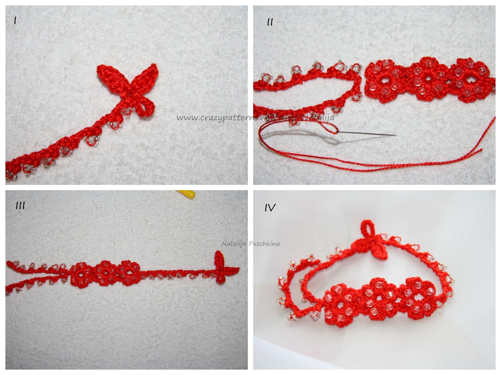 Sommerlaune Armband Kostenlose Häkelanleitung Häkeln Pinterest