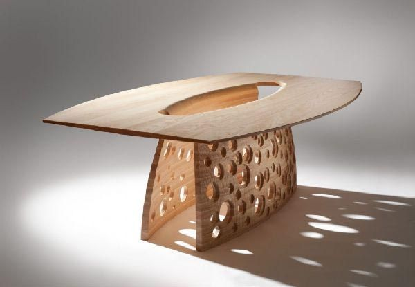 Unique Dining Tables Table With Perforated