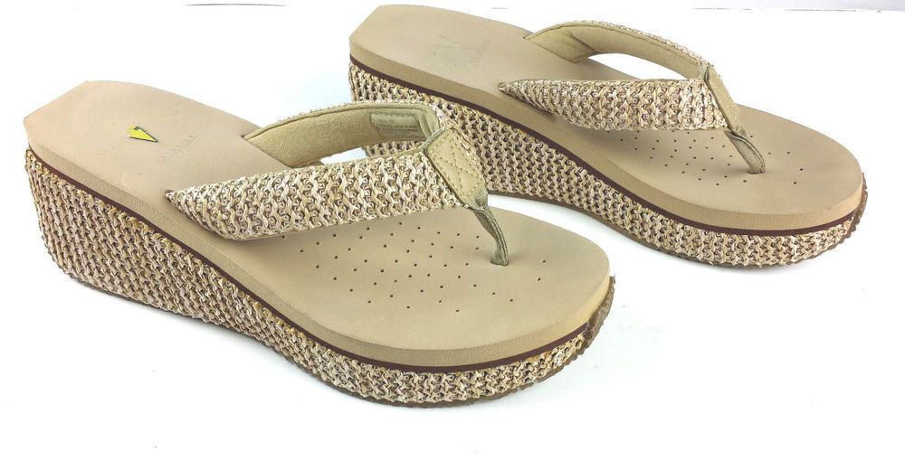 7e6d1fd48 VOLATILE Women s Flip Flop Thong Sandal Shoes Size 10 Island Natural Wedge   VOLATILE  FlipFlops