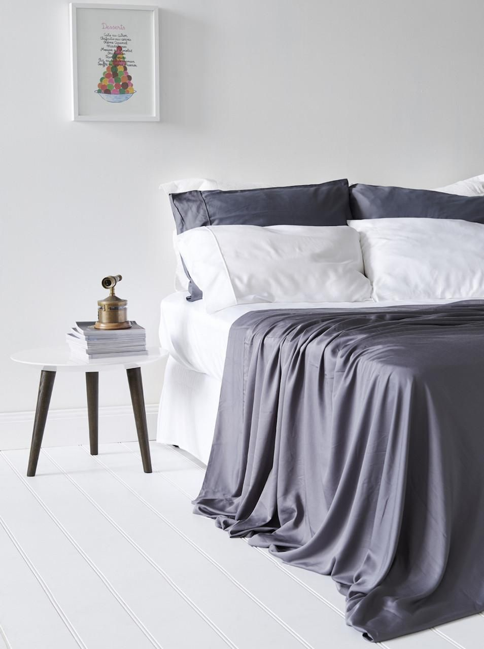 Bamboo Bondi Flat Sheet Grey Bamboo Bedding Bamboo Sheets