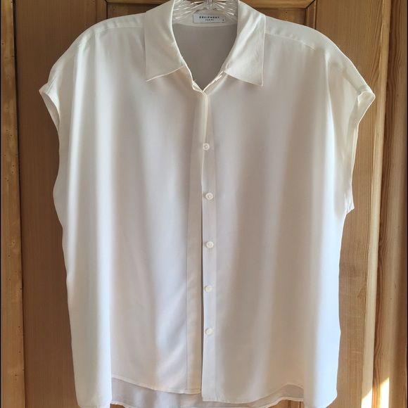 Equipment White Blouse Equipment White Blouse extra small Equipment Tops Blouses