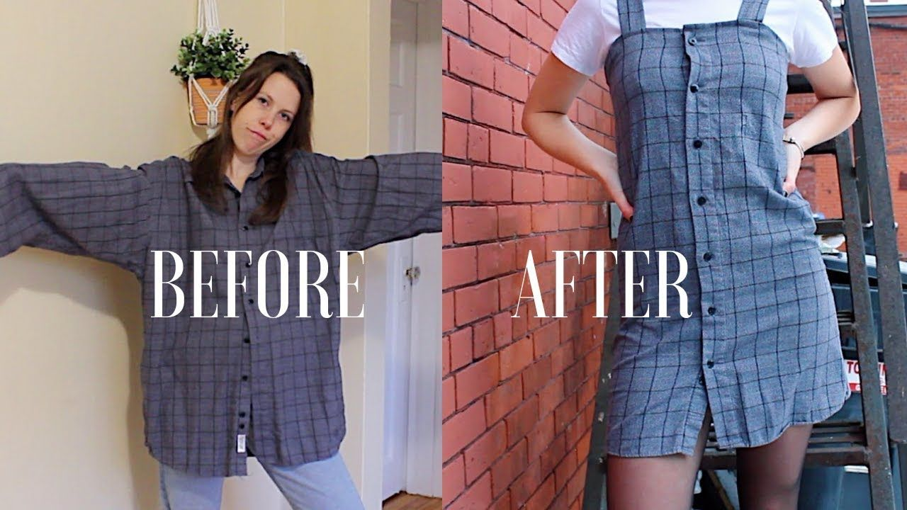 Diy Upcycle Men S Button Up Shirts Ep 2 Dress Urban Outfitters Style Youtube Upcycle Clothes Diy Diy Fashion Clothing Upcycle Clothes