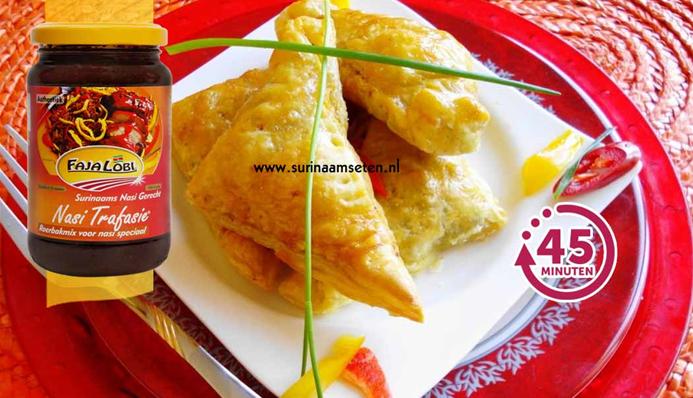 Surinaams eten – Pastei Trafasie
