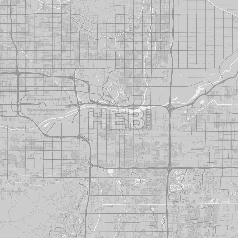 Tempe Arizona Area Map Grey Ui ux
