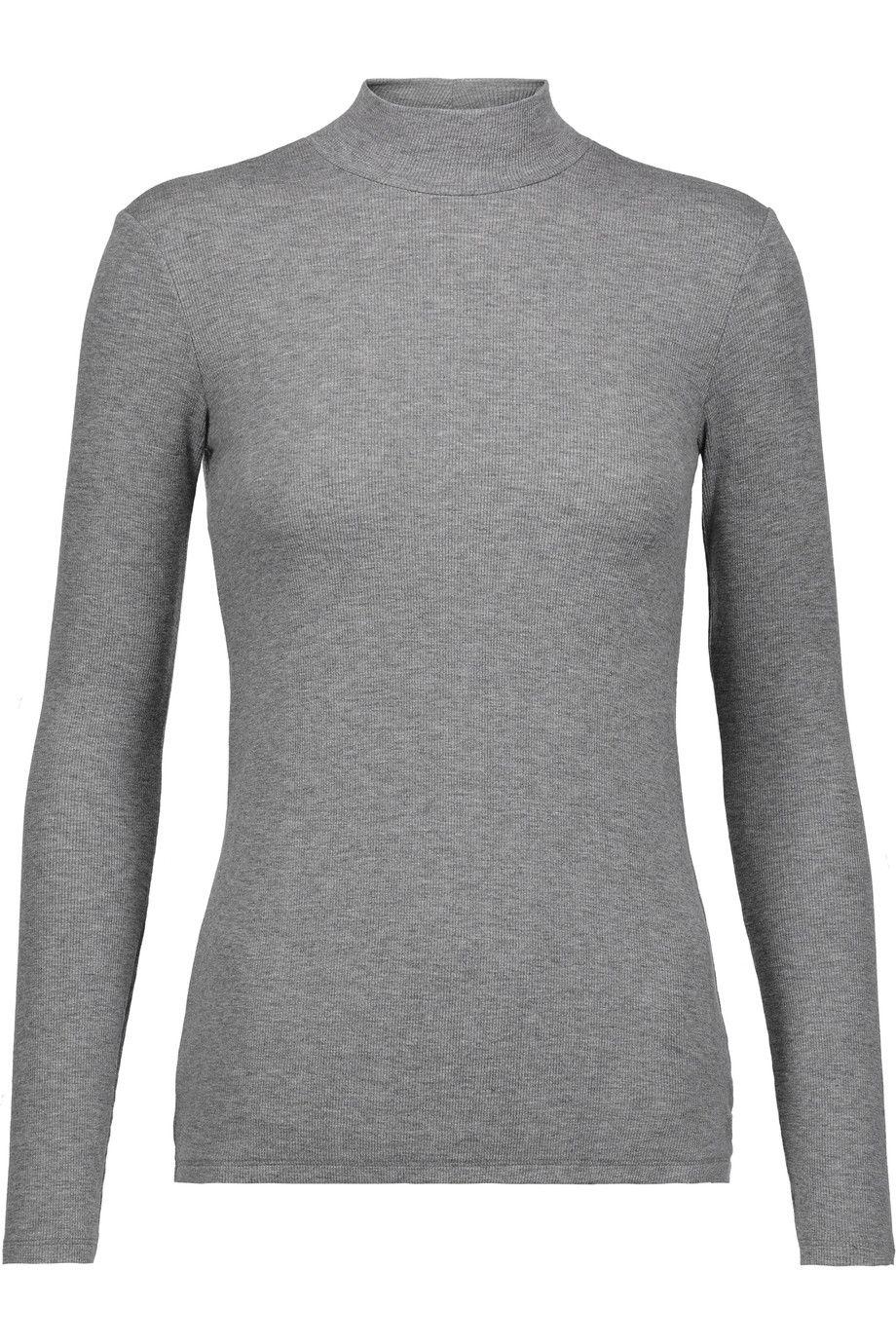 ATM ANTHONY THOMAS MELILLO Ribbed Stretch-Micro Modal Turtleneck Top.  #atmanthonythomasmelillo #cloth