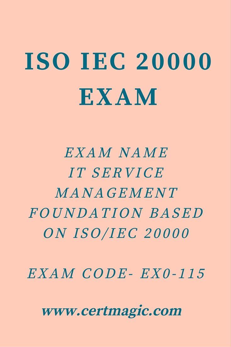 Exam Name It Service Management Foundation Based On Isoiec 20000