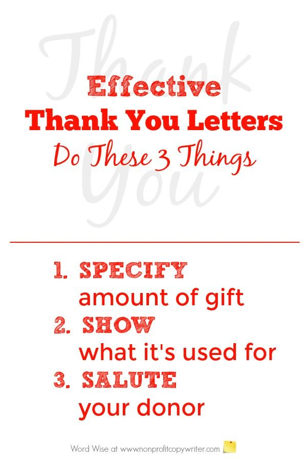 How to Write the Perfect Donor Thank You Letter Pinterest