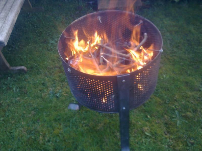 Fire pit from washing machine drum