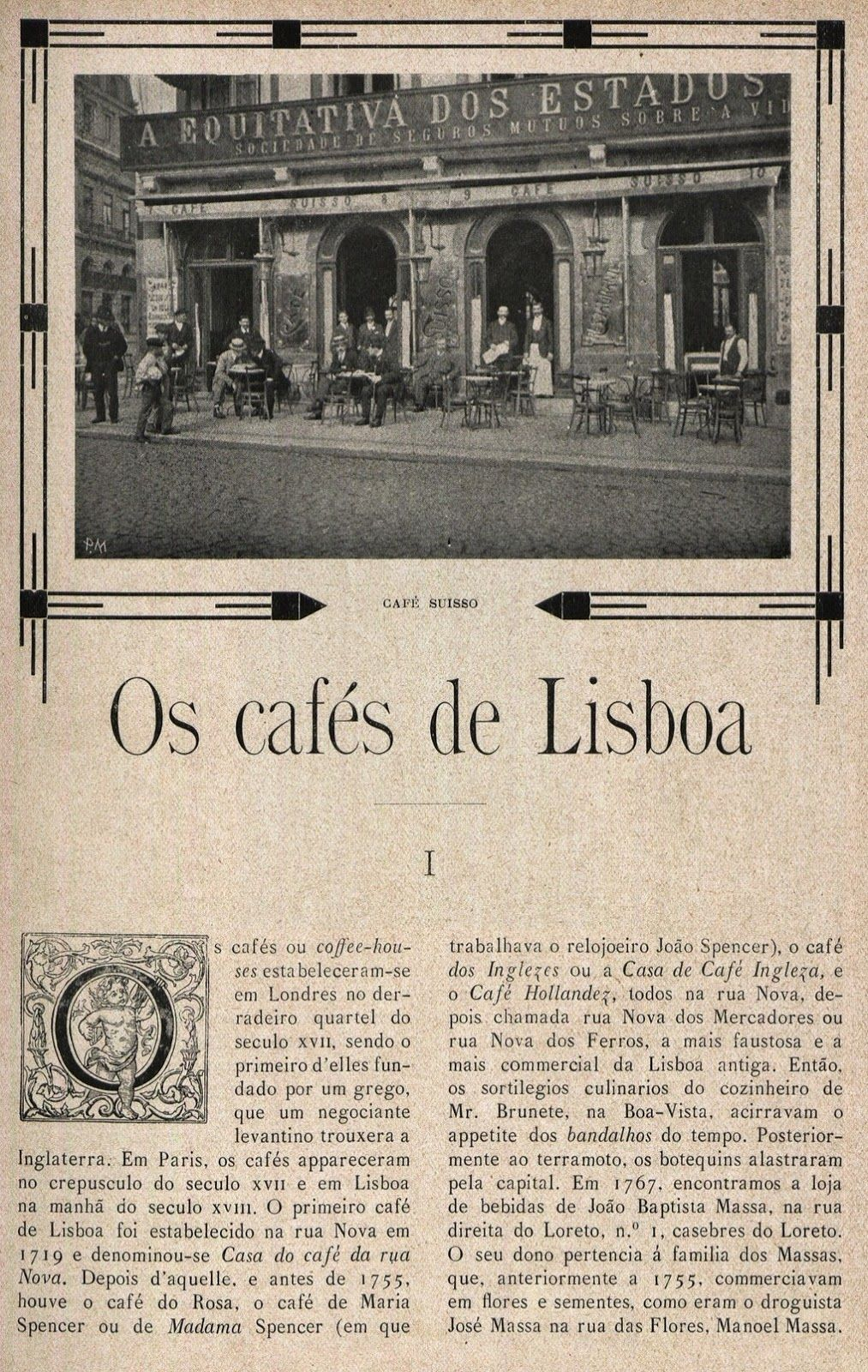 Lisboa: OS CAFÉS DE LISBOA - I