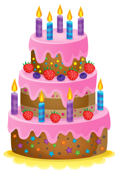 Birthday Cake Clip Art Kids Cards Balloon Cakes Clips