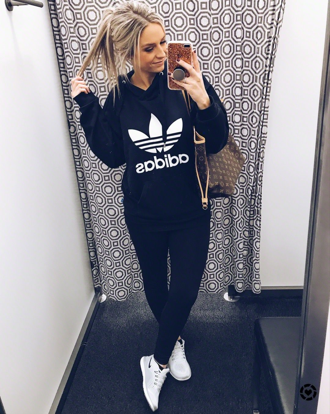 The Cutest Athleisure Outfit Weekend Wear Comfy Adidas Hoodie Athleisure Outfits Winter Weekend Wear Hoody Outfits Athleisure Outfits Winter [ 1354 x 1080 Pixel ]