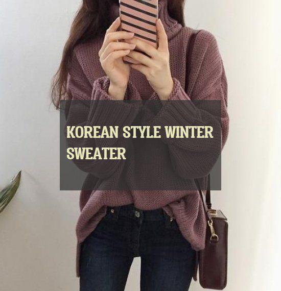 korean style winter sweater  winterpullover im koreanischen stil korean style winter sweater  Coat winter outfits  winter outfits Simple  Videos winter outfits