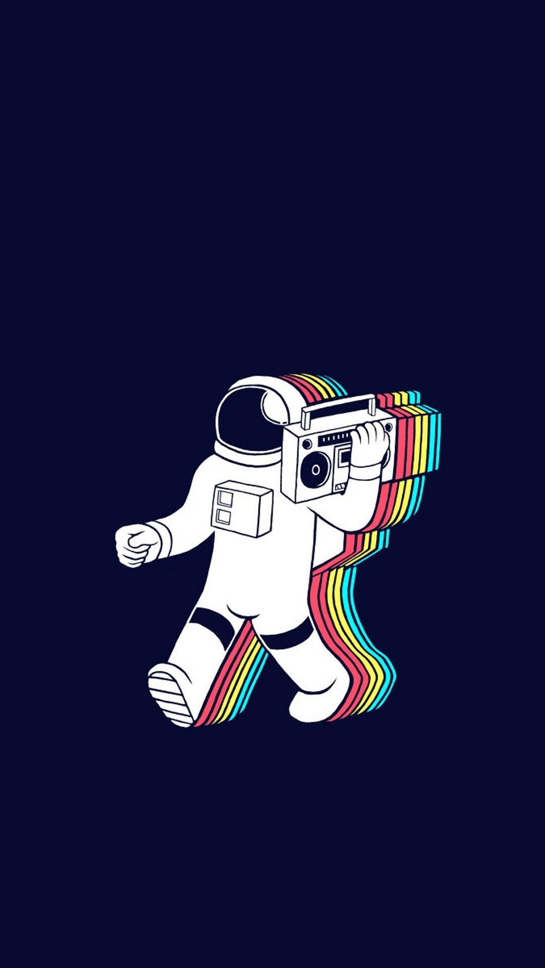 1080x1920 Cartoon Astronaut Music Iphone Wallpaper