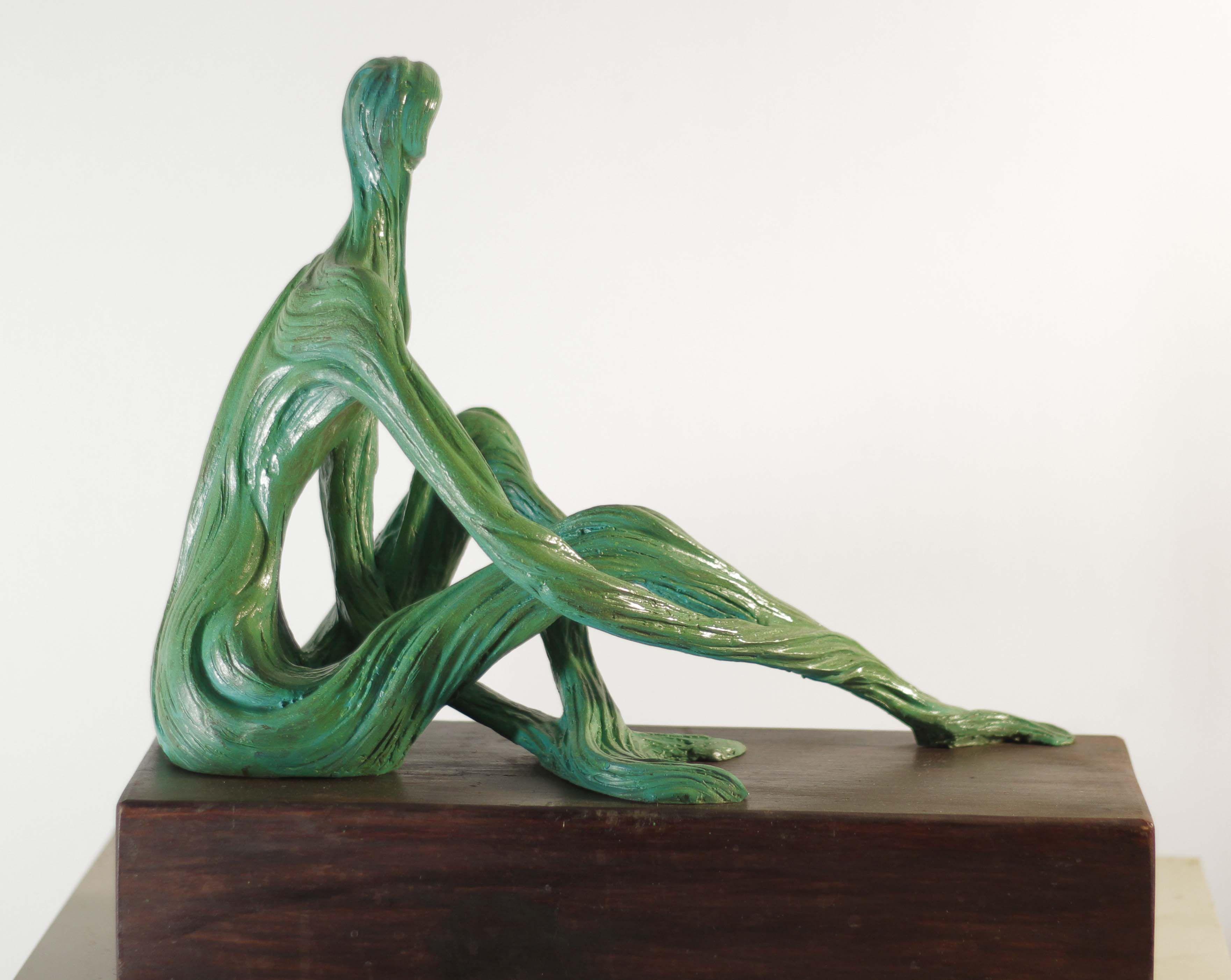 """Escultura """"Mujer raíz sentada"""" Escultura SAV Escultor Salvador ..."""