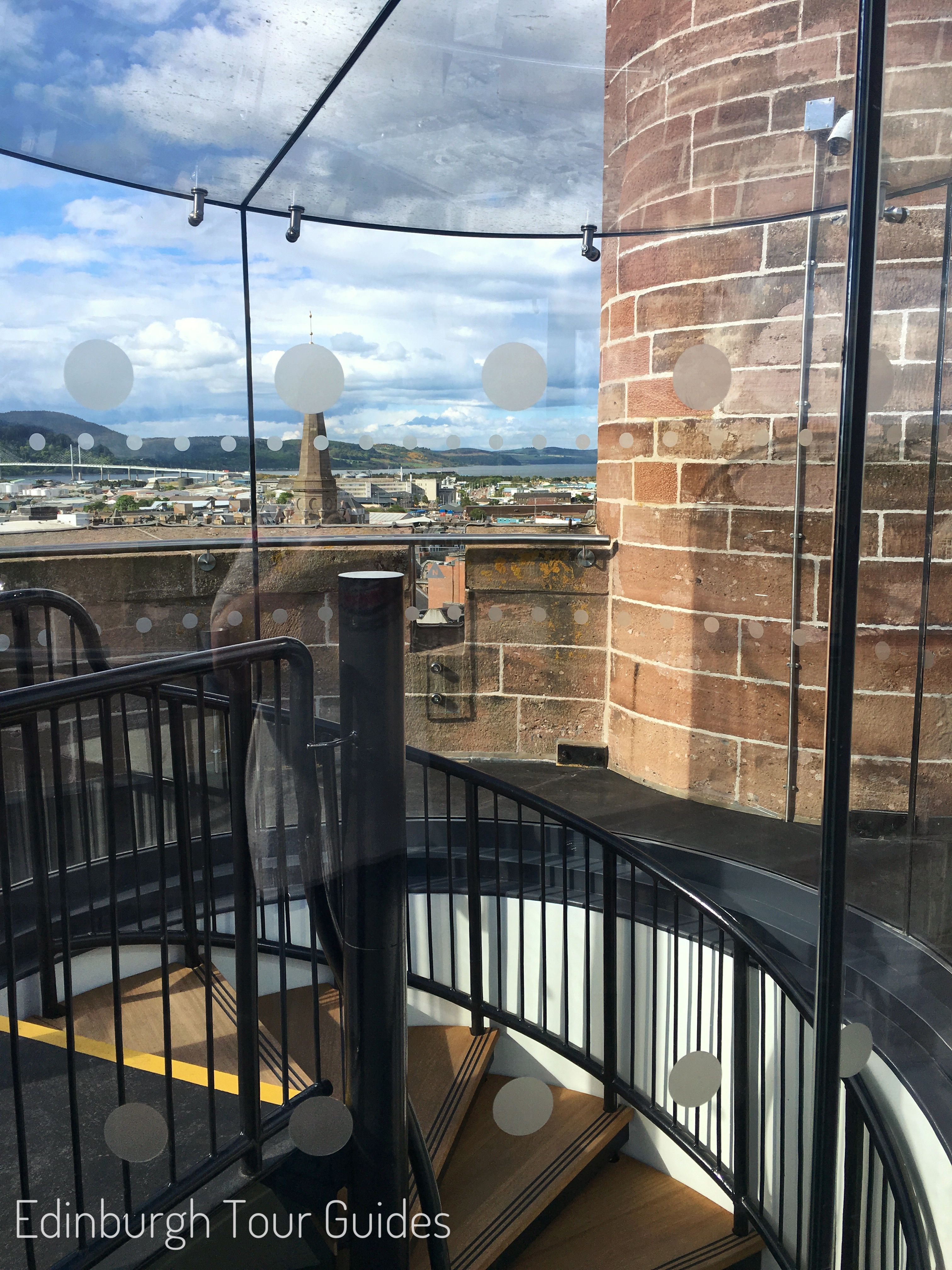 Top Of The Spiral Staircase Inverness Castle Viewpoint Edinburgh Tours Local Tour Inverness Castle