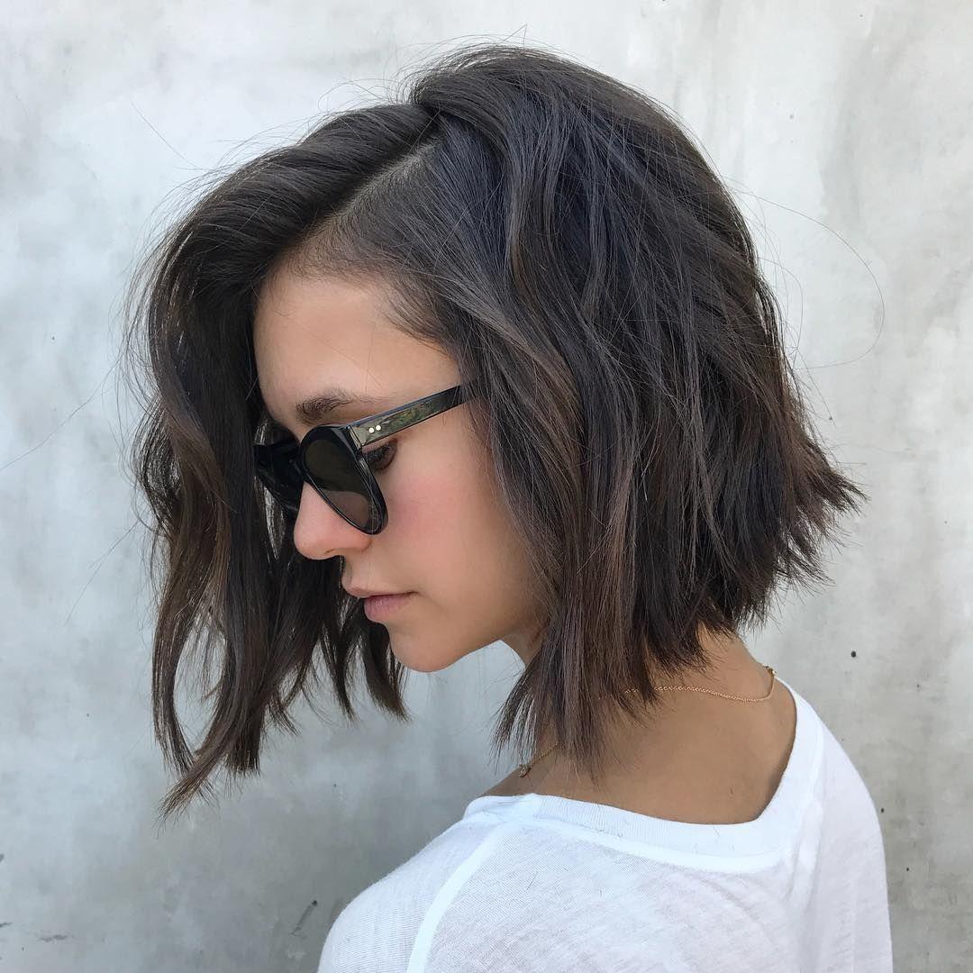 Top lowmaintenance short bob cuts for thick hair short